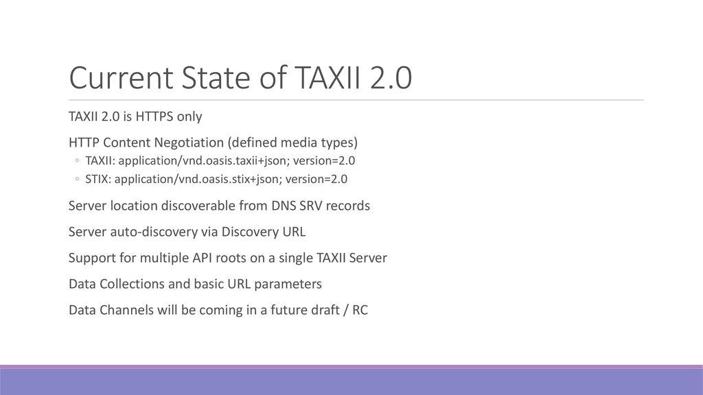 Taxii 2 Server