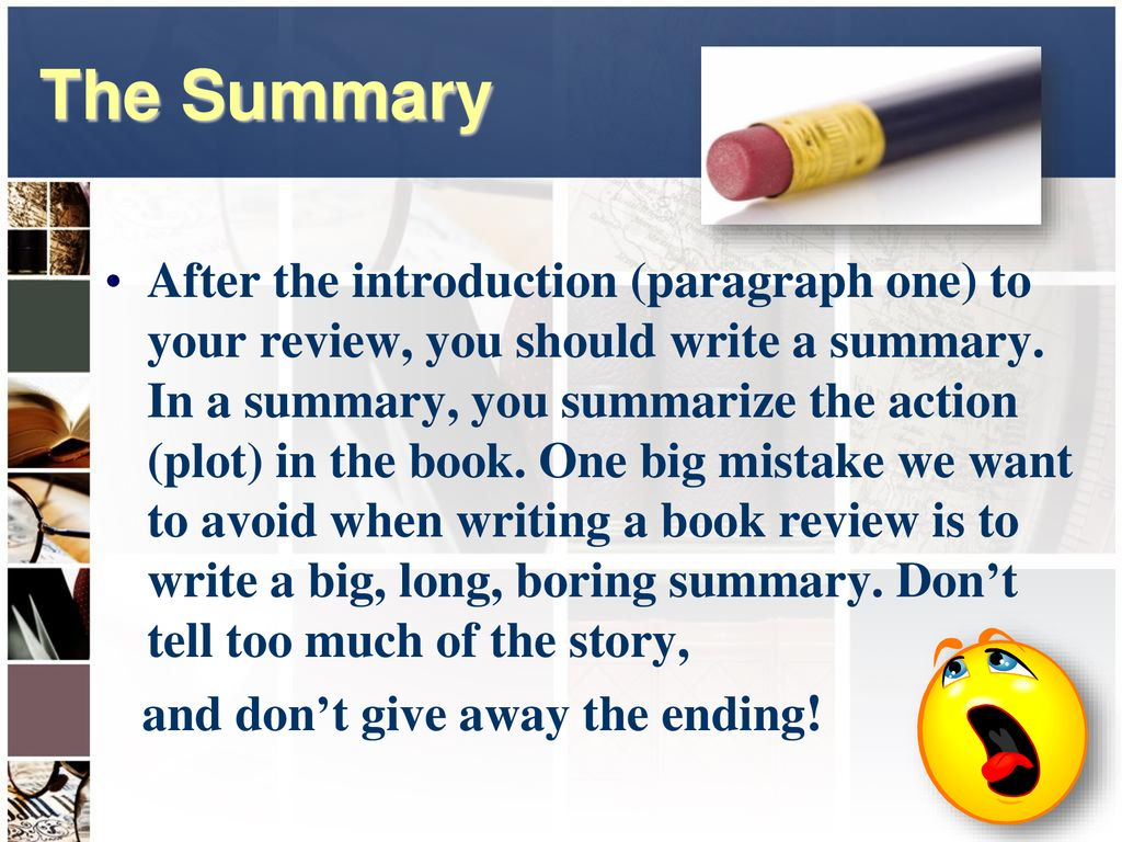 Can You Write a Book Review? - ppt download