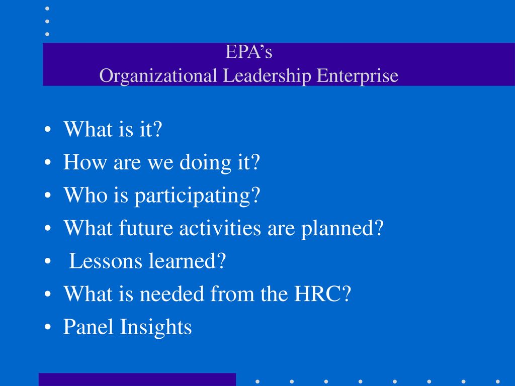 HPO National Change Conference Federal Executive Institute