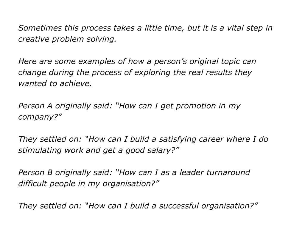 The Coach's Guide To Creative Problem Solving  - ppt download