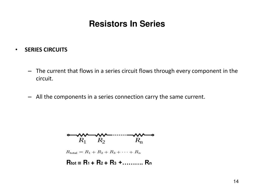 Electric Current Resistance And Ohms Law Ppt Download Series Of Circuits Resistors In