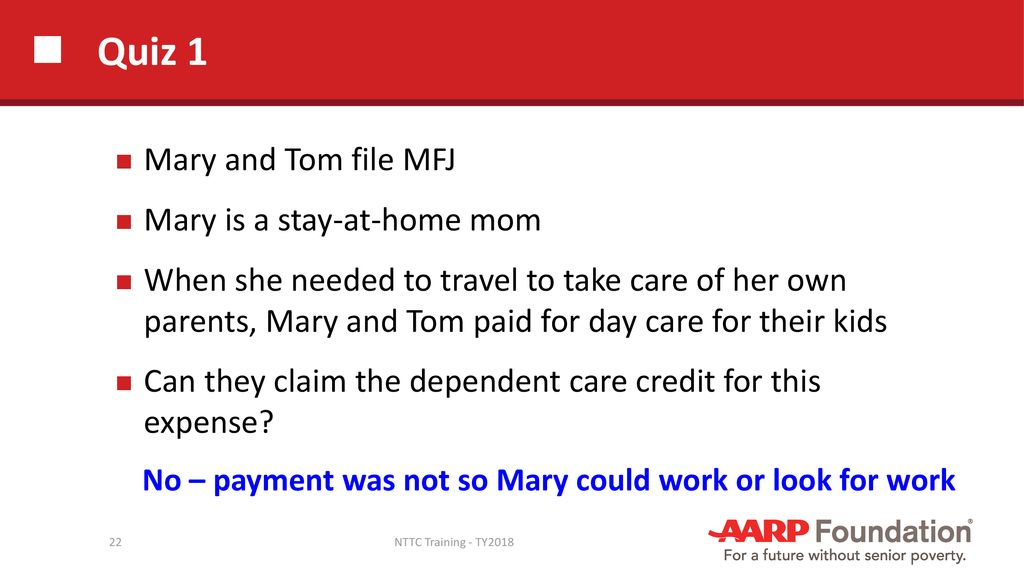 Child and Dependent Care Credit - ppt download