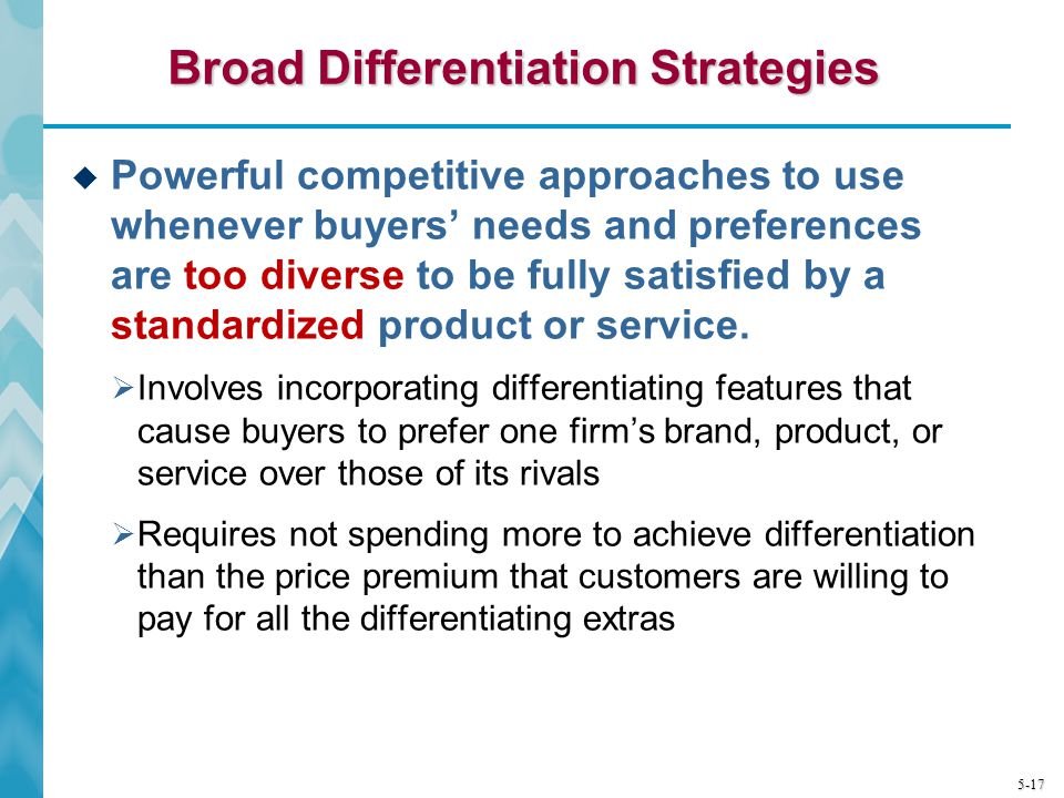broad differentiation