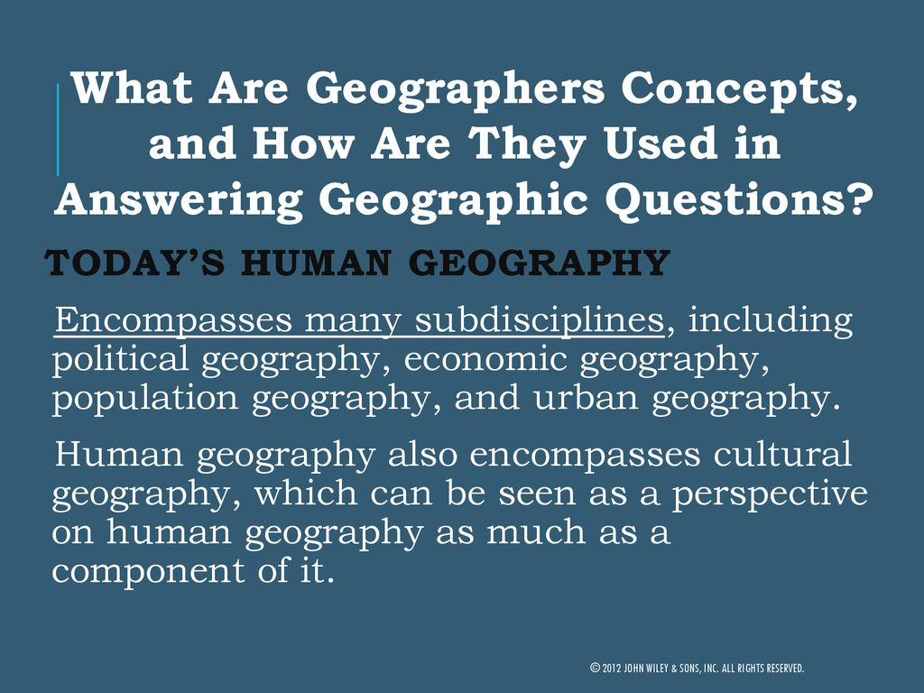 who are todays geographers