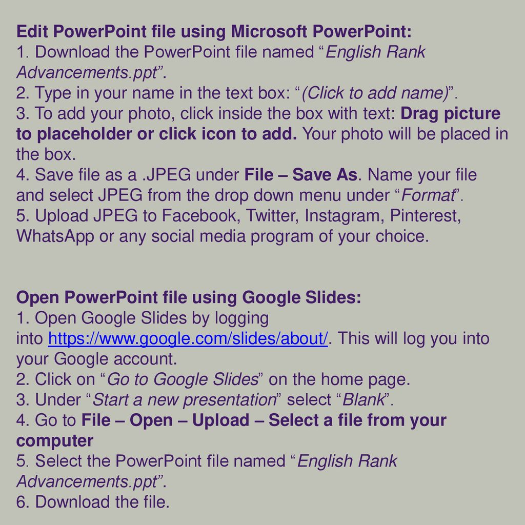 Edit PowerPoint file using Microsoft PowerPoint: