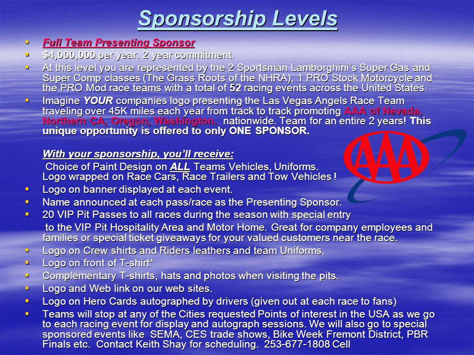 NASCAR Comparisons To NHRA Ppt Download - Car show sponsorship levels