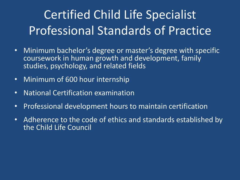 Child Life Ppt Download