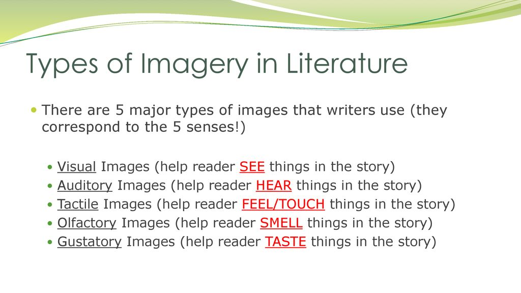what is auditory imagery in literature