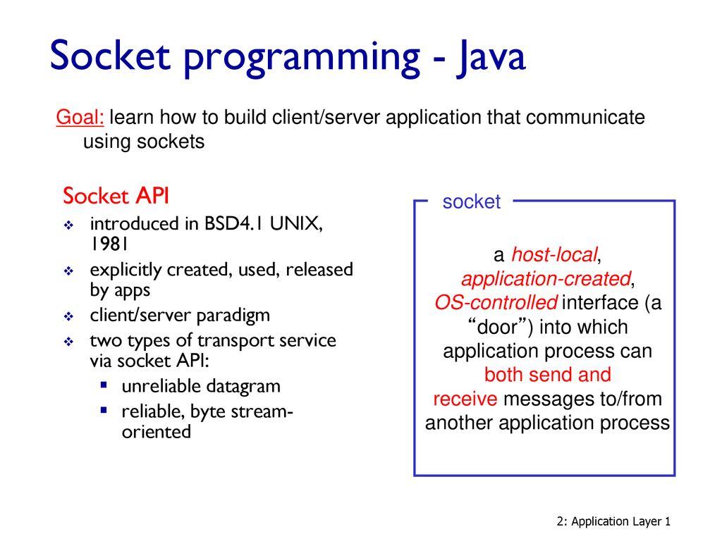 Socket programming - Java - ppt download