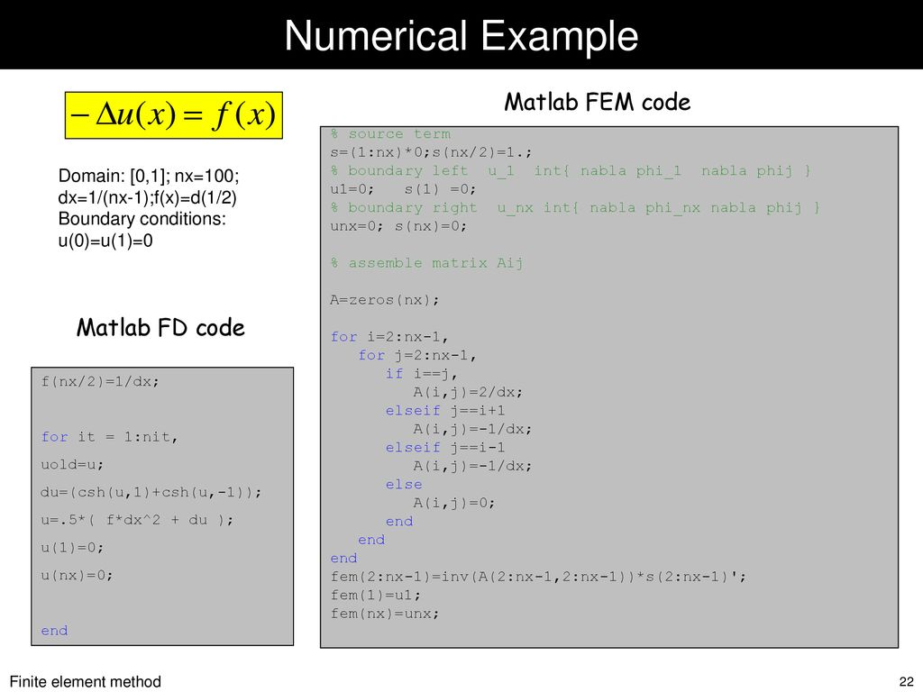 Finite Elements Basic formulation Basis functions Stiffness