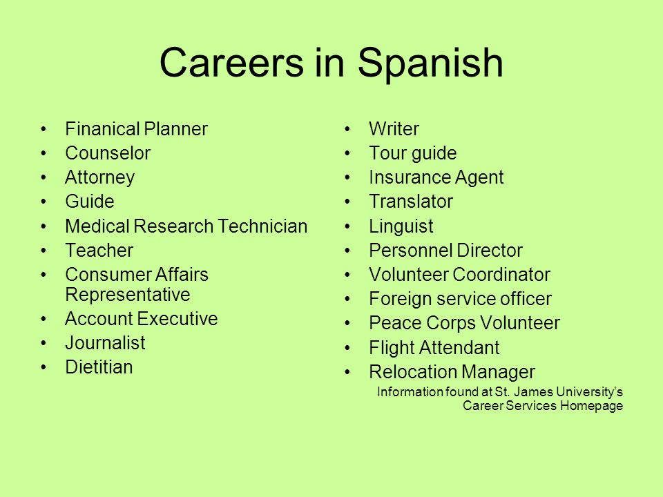 Careers in Spanish Finanical Planner Counselor Attorney Guide