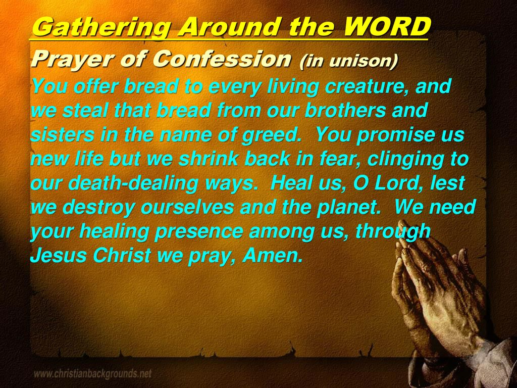 Gathering Around the WORD Call To Worship - ppt download