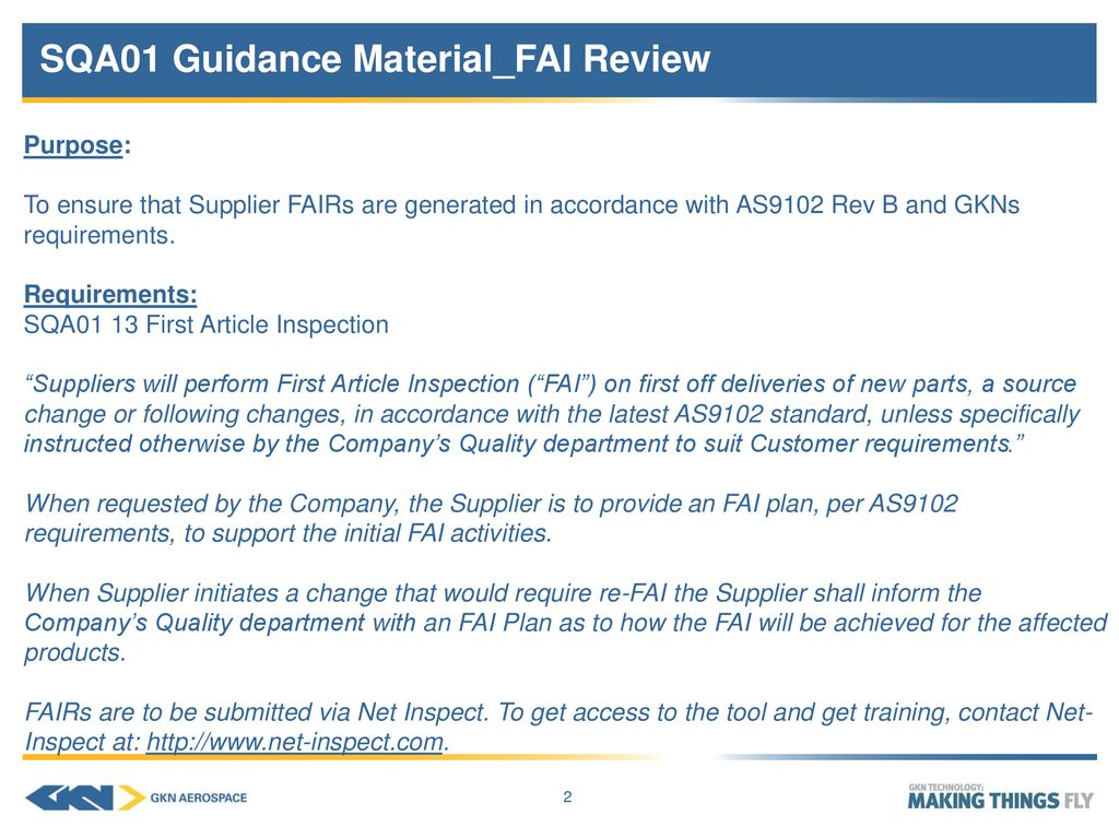 Sqa01 Guidance Material Fai Review Ppt Download