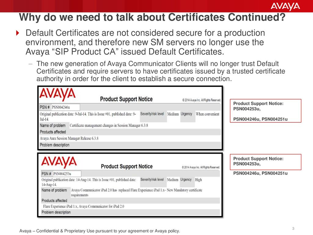 Avaya Aura Security Certificates Demystified - ppt download