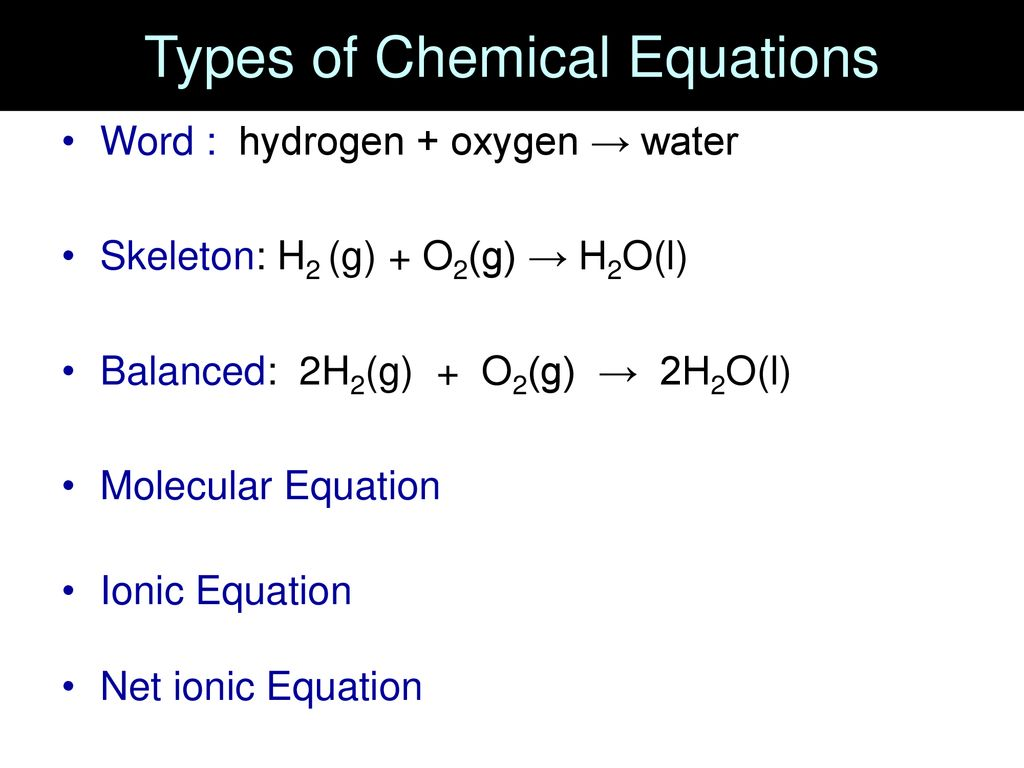 Chemical Equations And Reactions In Aqueous Solutions Ppt Download