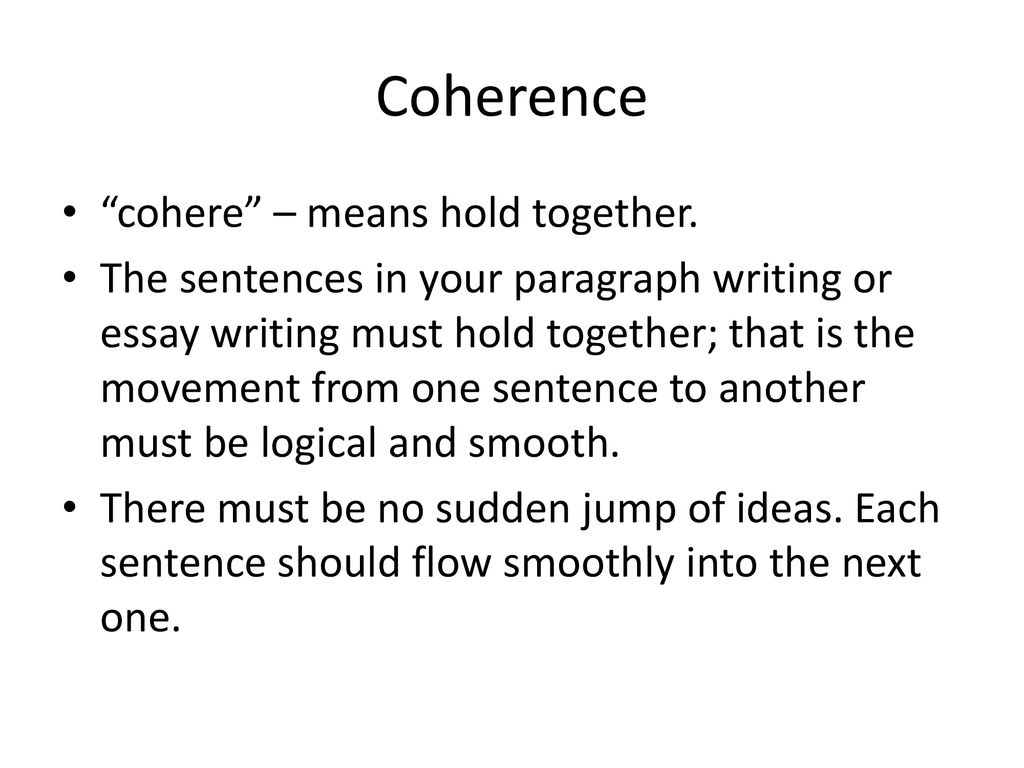 UNITY & COHERENCE  - ppt download
