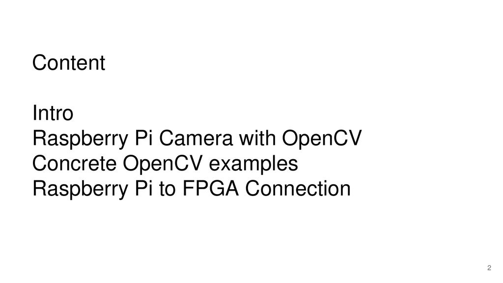 OpenCV and Embedded System - ppt download