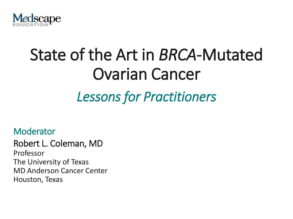 State Of The Art In Brca Mutated Ovarian Cancer Ppt Download