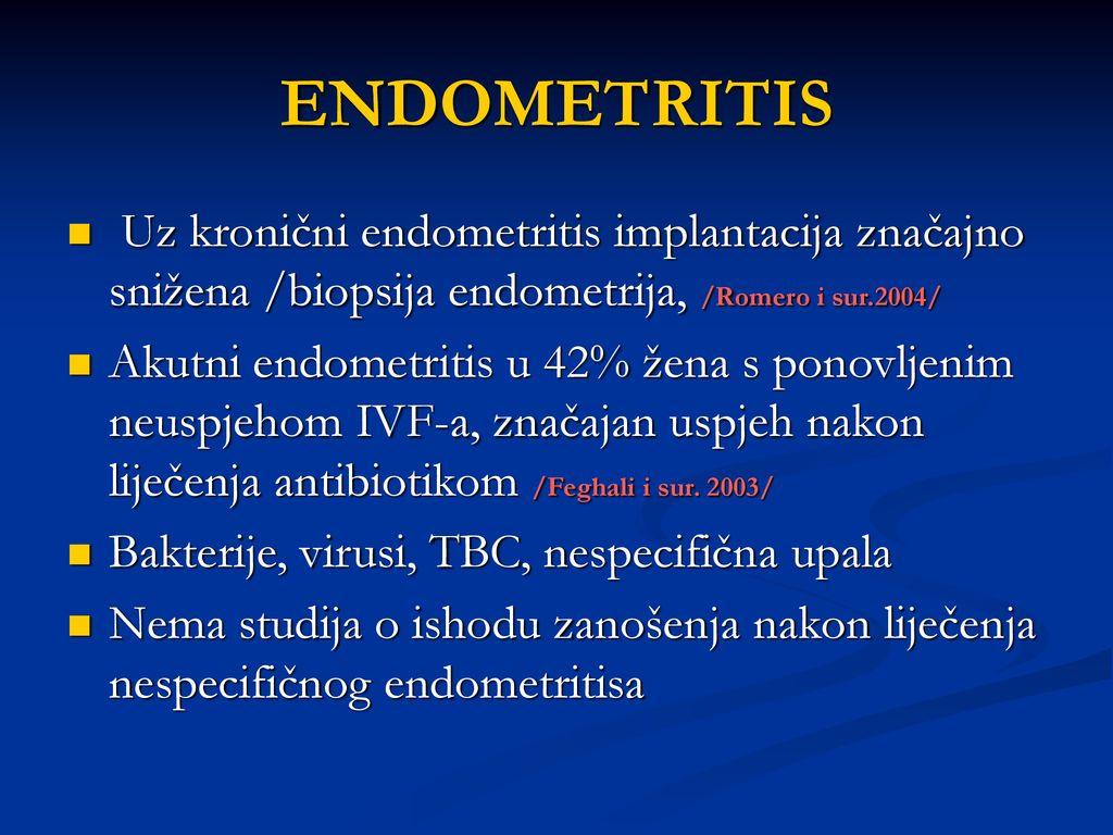Metode ispitivanja endometrija medicinskom oplodnjom Biopsija.