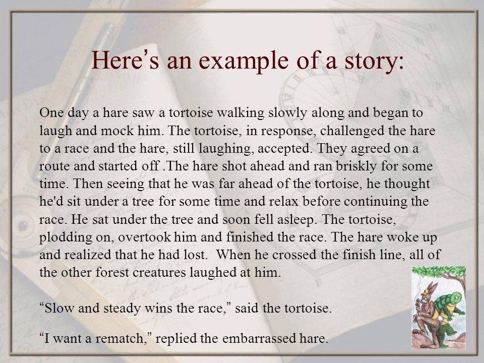 slow and steady wins the race short story