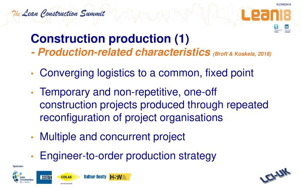 Lean Productivity in a Construction Supply Chain Rafaella Broft MSc