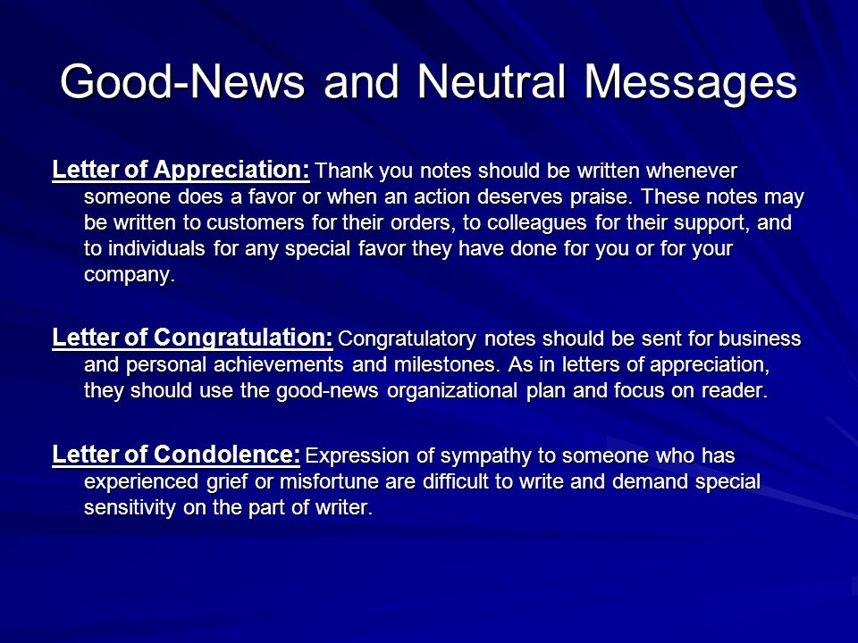 Good-News and Neutral Messages - ppt video online download