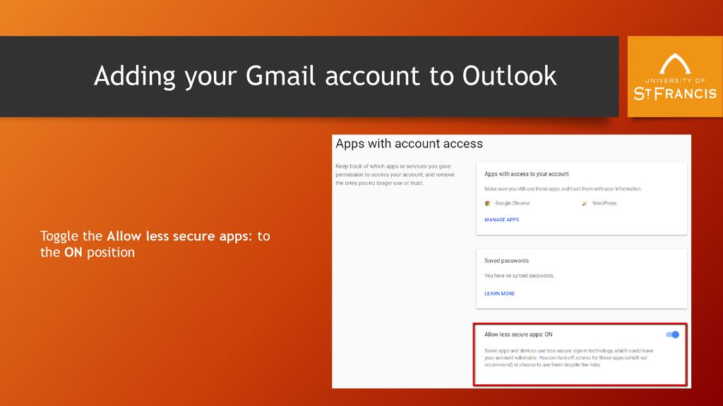 Allow Access From Less Secure Apps Gmail