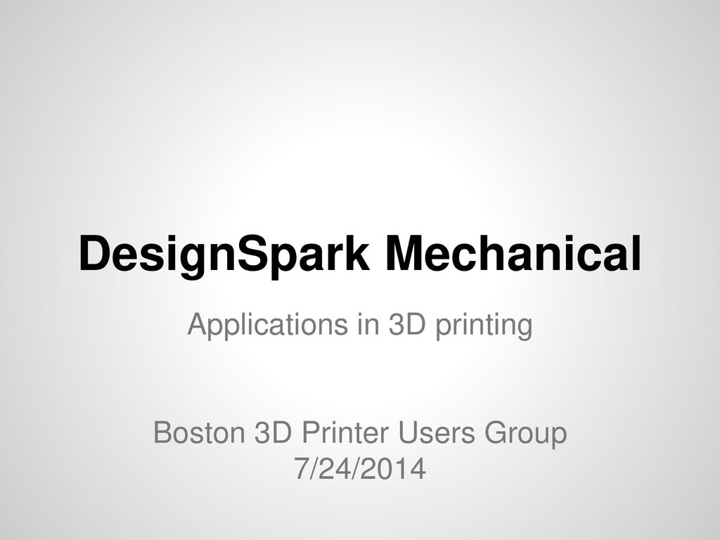 DesignSpark Mechanical - ppt download