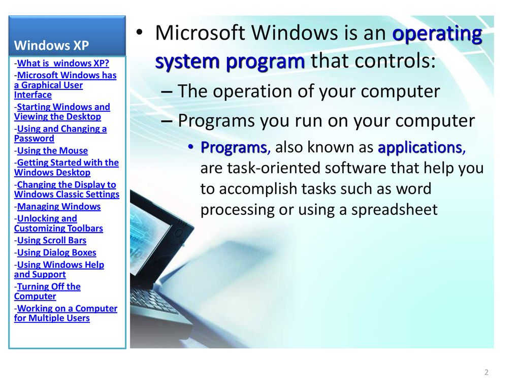 Windows xp PART 1 DR WAFAA SHRIEF  - ppt download