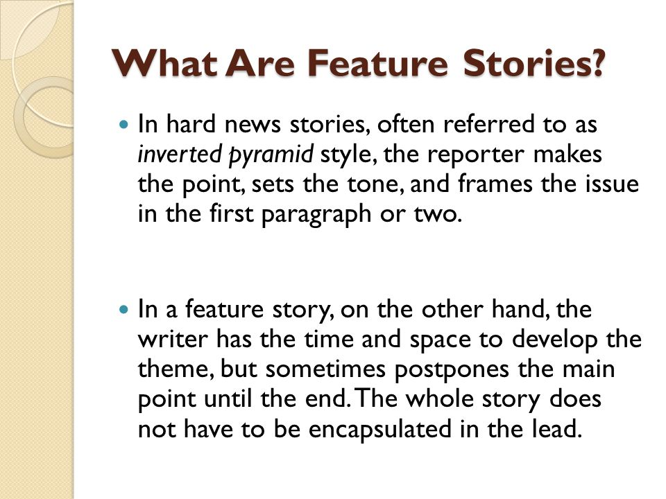 how to end a feature story