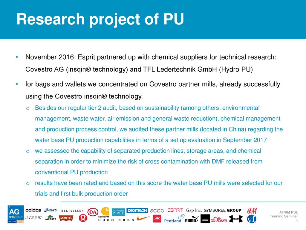 Case Study: Water Based PU - ppt download