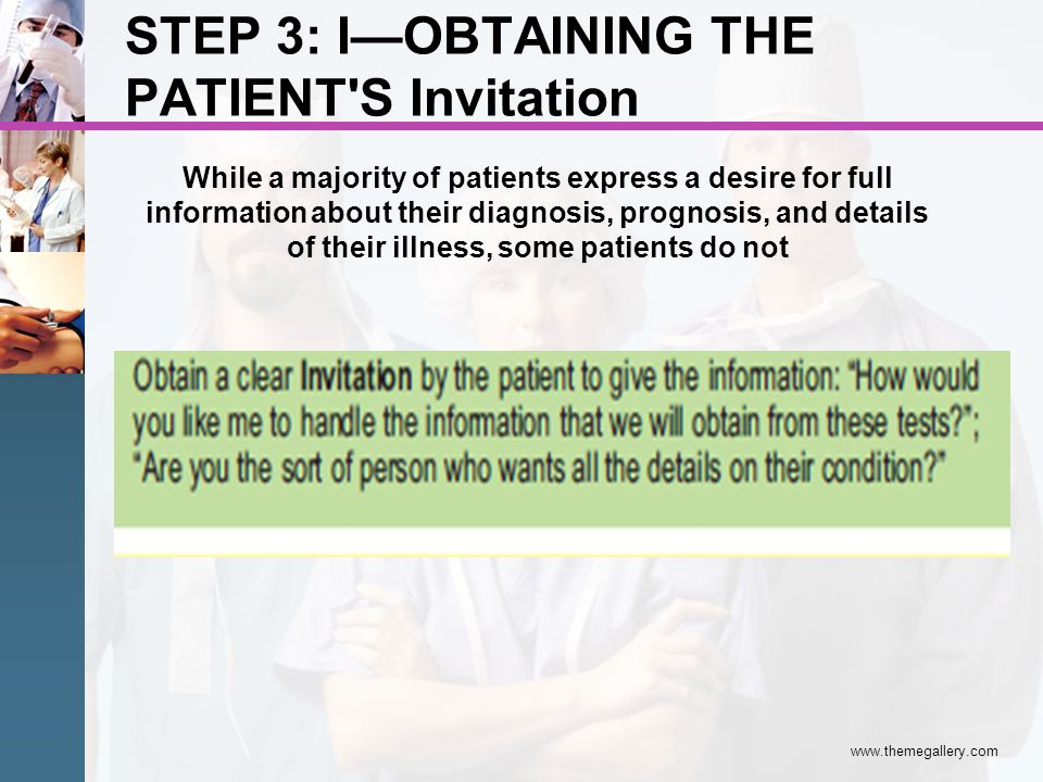 STEP 3: I—OBTAINING THE PATIENT S Invitation