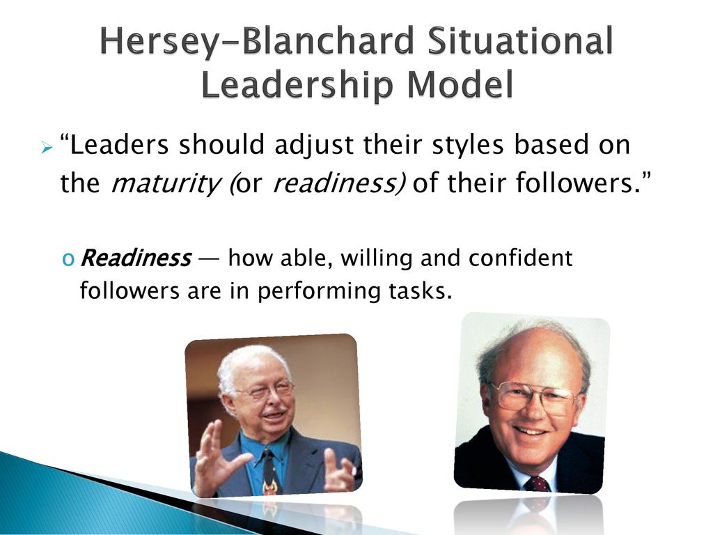 Leadership Theory 2 Hersey Blanchard Situational Model Ppt Download