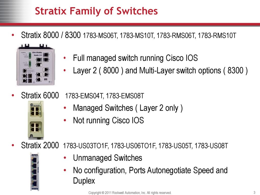 Best Practices for Configuring Stratix Managed Switches