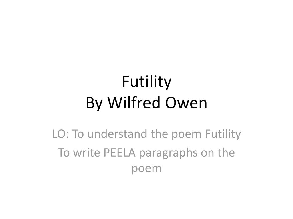 futility wilfred owen