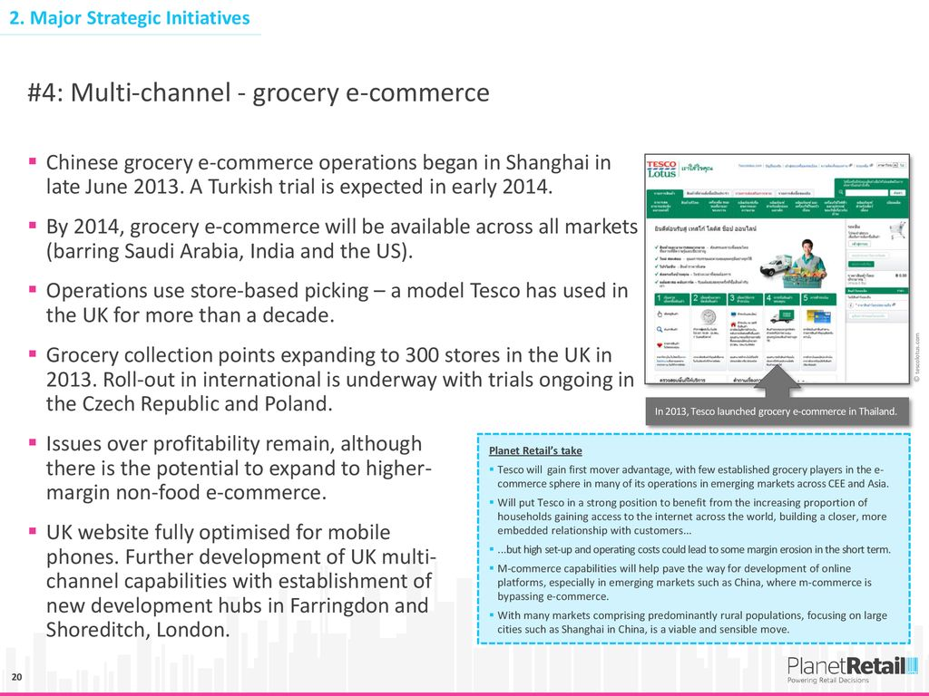 TESCO INSIGHT DECK Growth markets and strategic initiatives