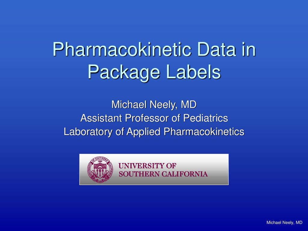 Pharmacokinetic Data in Package Labels - ppt download