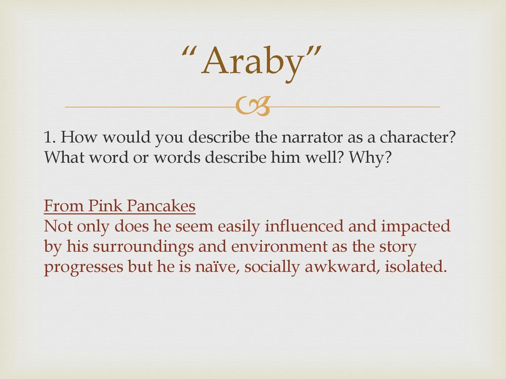 what is araby about