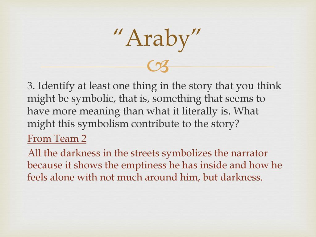 araby meaning