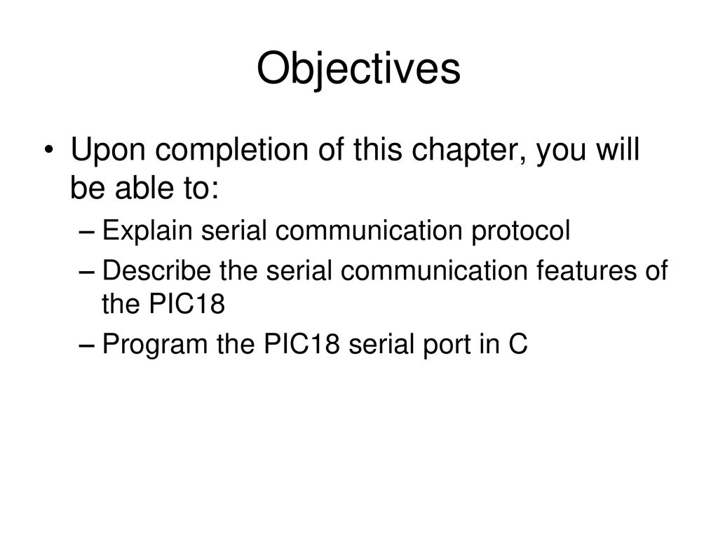 Serial Communication Interface - ppt download
