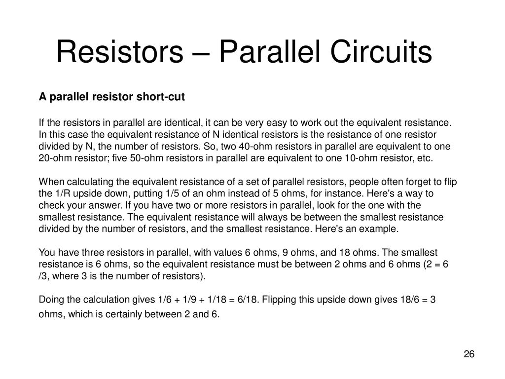 Chapter 2 Basic Electronics Theory Ppt Download What Is The Equivalent Resistance Of Five Resistors In Circuit Parallel Circuits