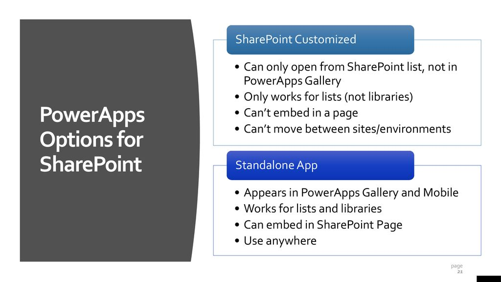 PowerApps vs InfoPath: - ppt download