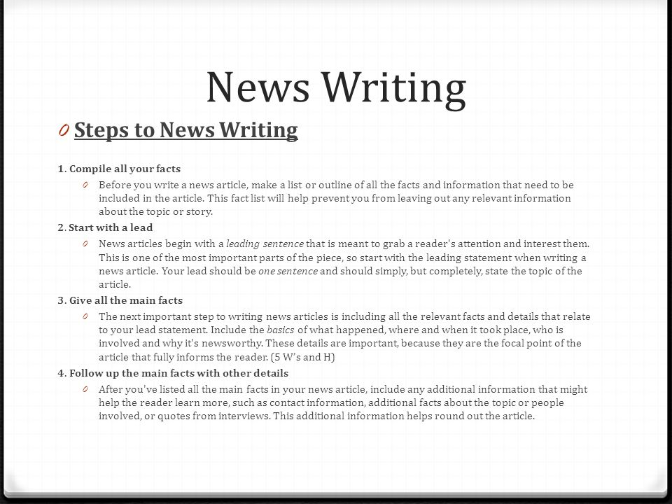 How-to Create a Story Article