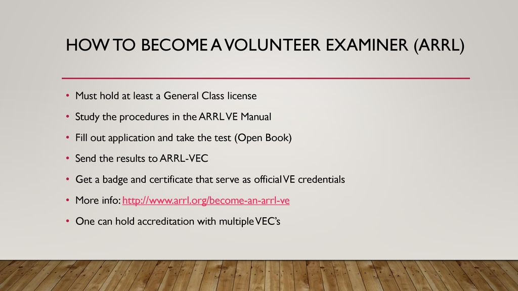 The Volunteer Examiner System - ppt download