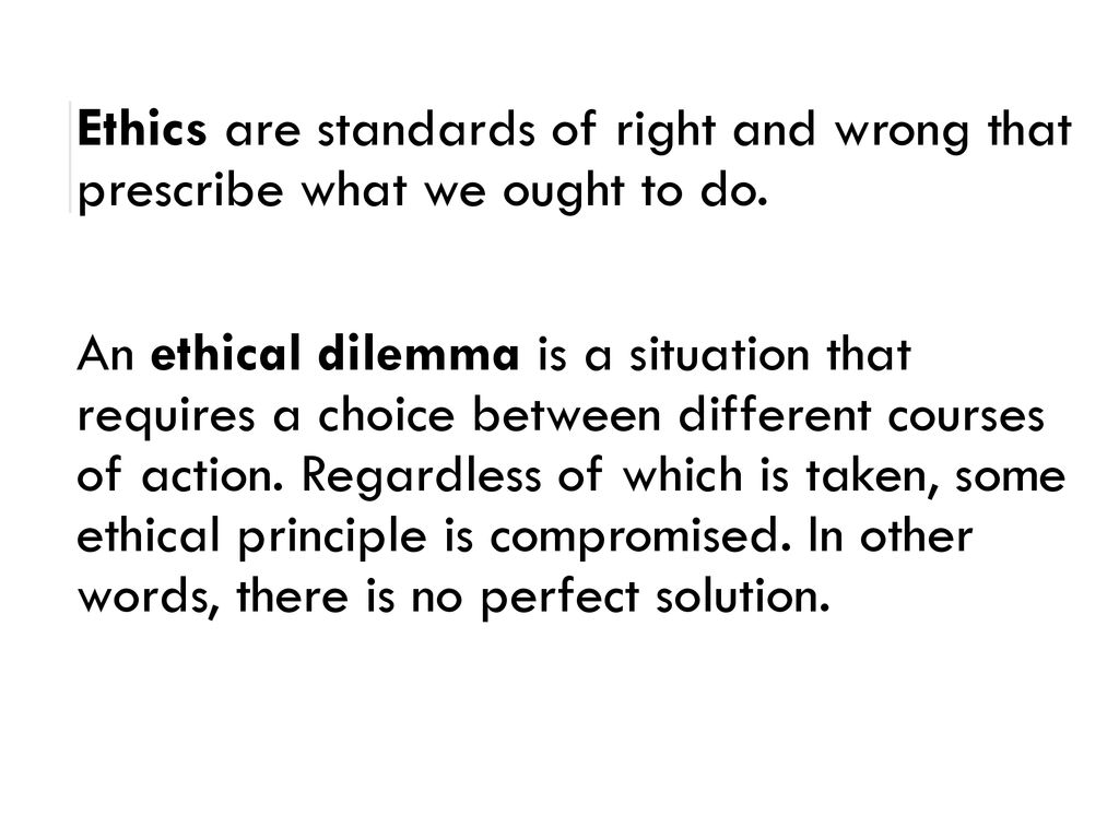 Ethical Dilemmas IN Homeless WORK - ppt download