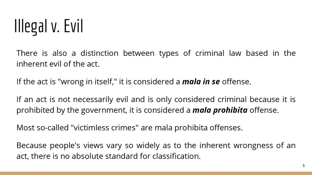 which of these crimes is mala prohibita