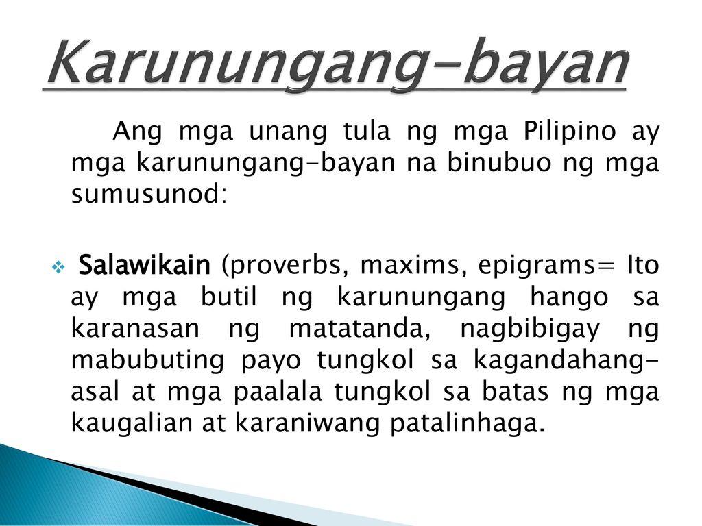 Mga AWITING-BAYAN  - ppt download