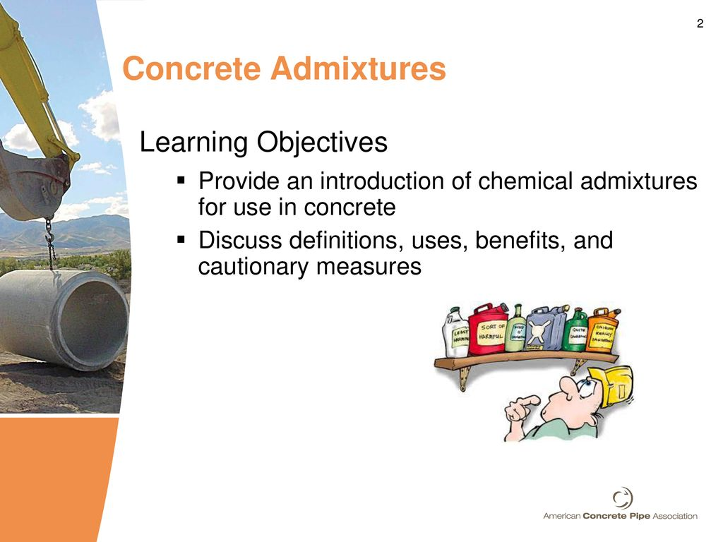 Chemical Admixtures for Concrete Pipe - ppt download