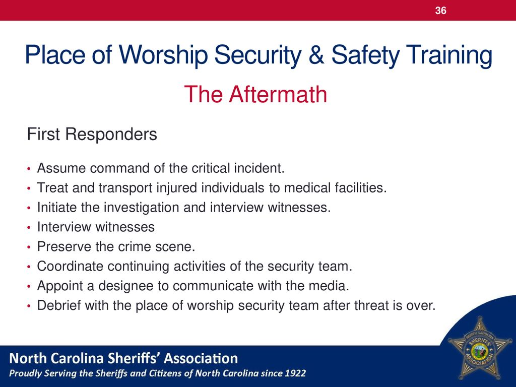 Place of Worship Security & Safety Training - ppt download