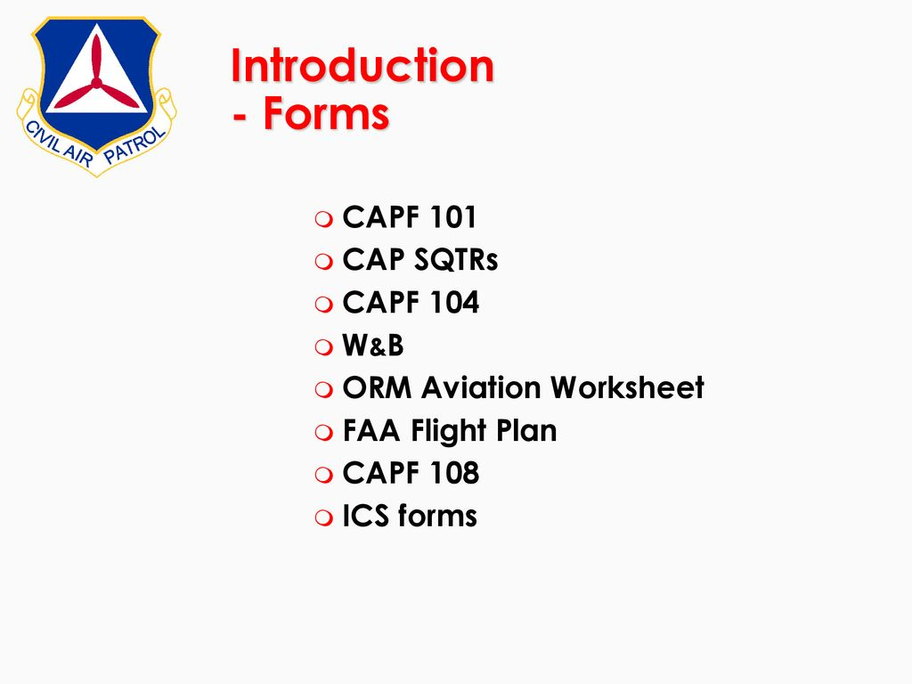 CAP Mission Aircrew SAR/DR Mission Pilot Course Revision May